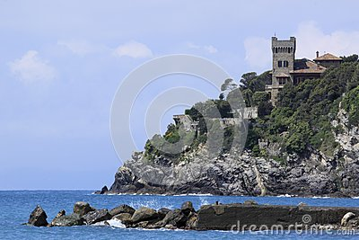 Riviera włoska skała
