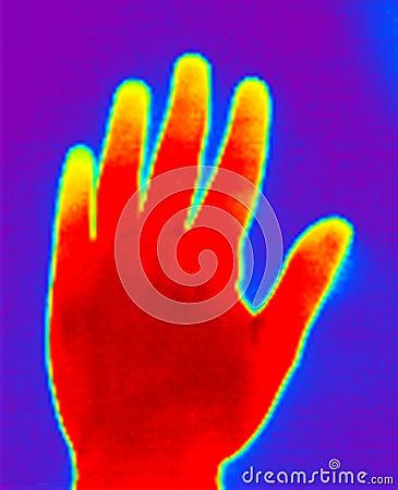 Ręka termograf