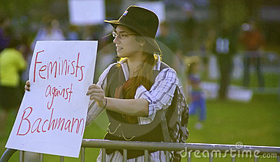RNC Debate Protesters Editorial Image
