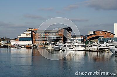 RNLI-Hoofdkwartier, Poole, Dorset Redactionele Foto