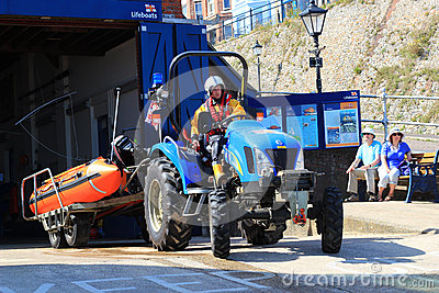 RNLI launching a rescue dingy. Editorial Image