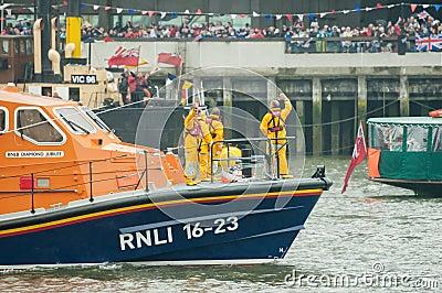 RNLI Lifeboat crew Editorial Stock Photo