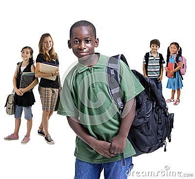 Różnorodność dzieci do szkoły
