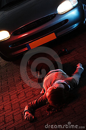 Road Accident With A Victim Royalty Free Stock Photos - Image: 5517588