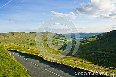 Road accross hills