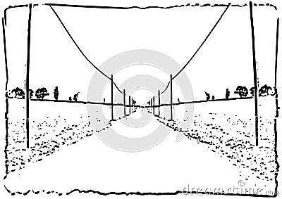 Road ahead (vector)