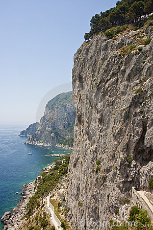 Road Along Capri Cliffs