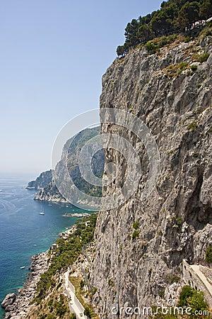 Road Along Capri Cliffs