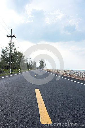 The road along the sea.
