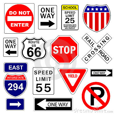 Free Road And Highway Signs Royalty Free Stock Photography - 3046807