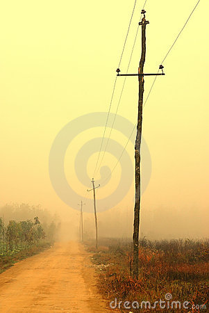 Free Road And Telegraph Pole Stock Images - 13298374