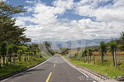 Road in the Andes in Ecuador