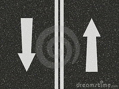 Road with arrows