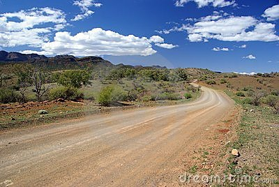 Road in Australian outback