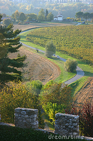 Free Road Bending Below A Castle Royalty Free Stock Photos - 6804878