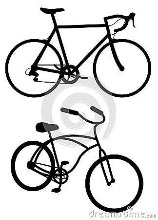 Free Road Bike And Cruiser Royalty Free Stock Photo - 6200715