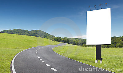 Road and billboard