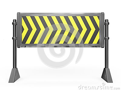 Road Block Barrier Stock Illustration - 20.8KB