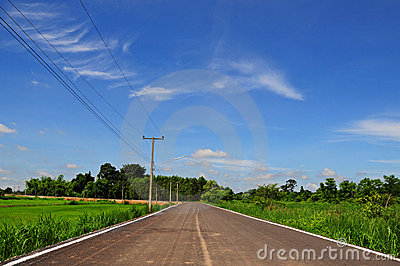 Road with blue sky