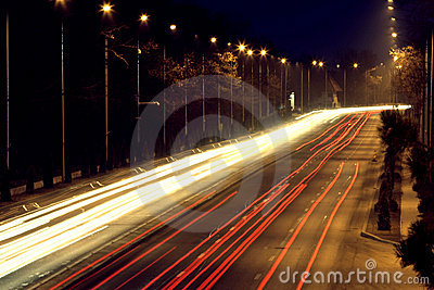 Road with car traffic