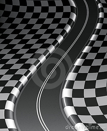 Road checkered