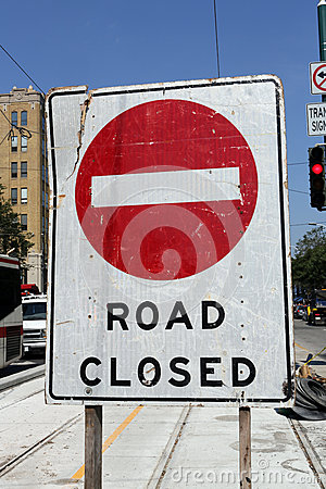 Free Road Closed Royalty Free Stock Image - 26815986
