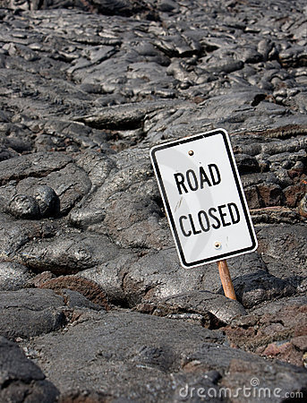 Free Road Closed! Royalty Free Stock Image - 9468046