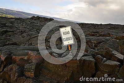Road closed, Hawaii