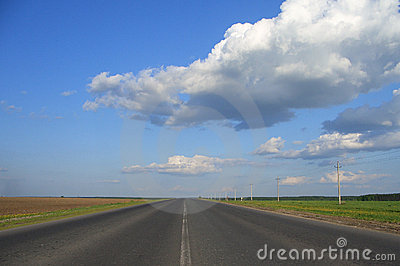 Road & clouds