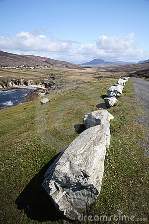 Road by the coast in Achill Island