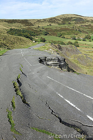 Road Collapse Royalty Free Stock Image - Image: 21369256