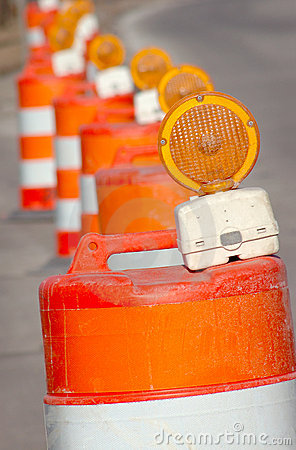 Free Road Cones Stock Photography - 4510462