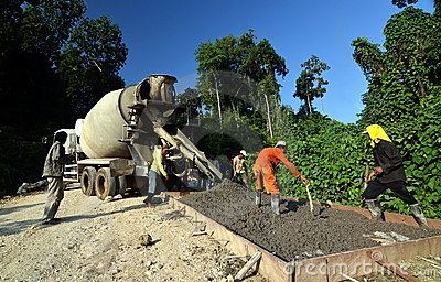 Road Construction Editorial Stock Image
