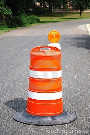 Road Construction Barrel
