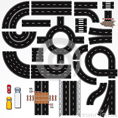 Free Road Construction Elements Stock Image - 24634081