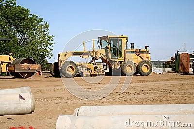 Road construction grader