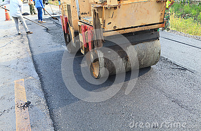 Road constuction and worker
