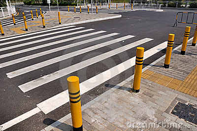 Road corssing and zebra line