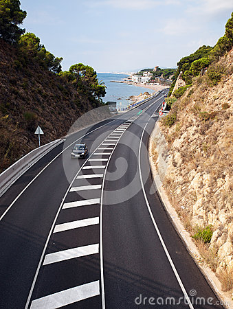 The road in Costa Brava, Spain