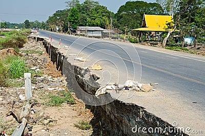 Road crack.