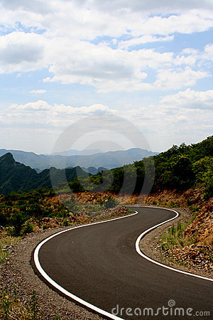 Free Road Curve Stock Image - 5495131