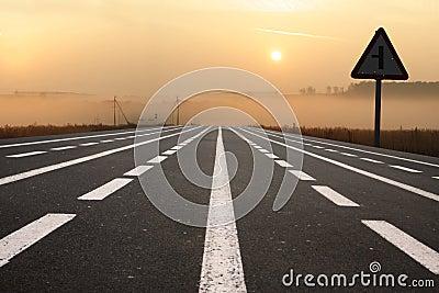 Road at dawn