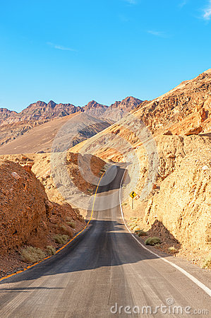 The road in death valley