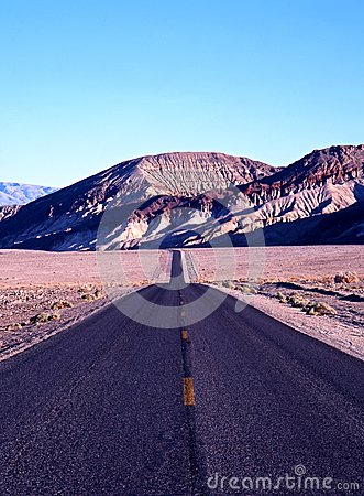 Road in Death Valley, USA.
