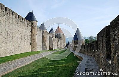 Road between defense walls
