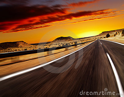 Road In Desert Stock Photo - Image: 10461420