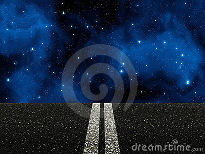 Road with double white lines