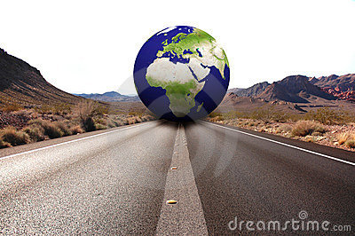 Road with earth