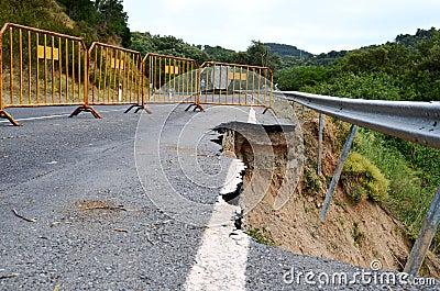 Road erosion