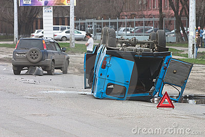 Road failure Editorial Stock Photo